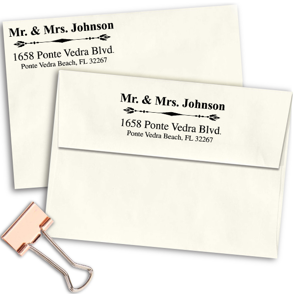 Mr. And Mrs. Accent Return Address Stamp