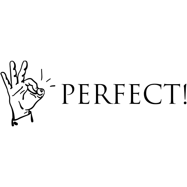 Feedback - Perfect! Okay Hand - Teacher Rubber Stamp