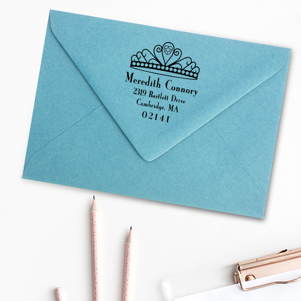 Princess Crown Return Address Stamp