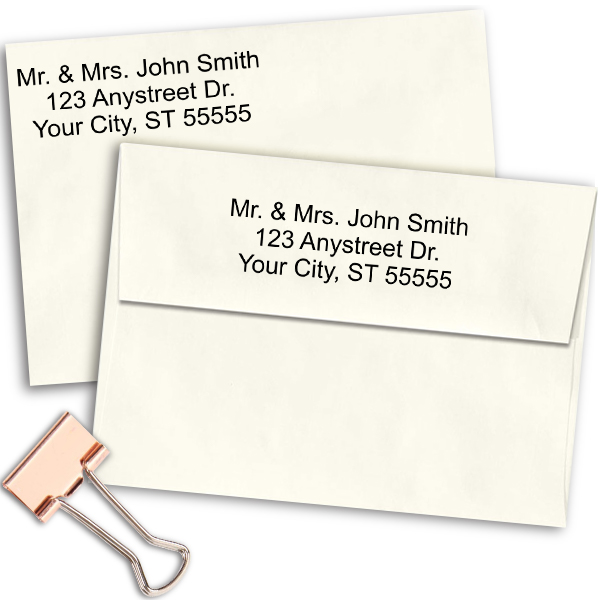 3 Line Self-Inking Address Stamp