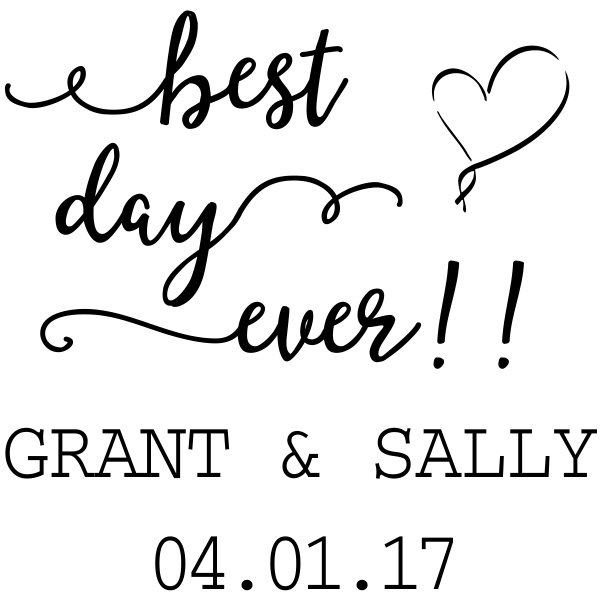 Best Day Ever Wedding Rubber Stamp