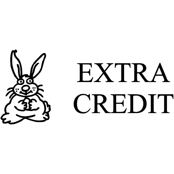 Assignment - EXTRA CREDIT Rabbit Rubber Teacher Stamp