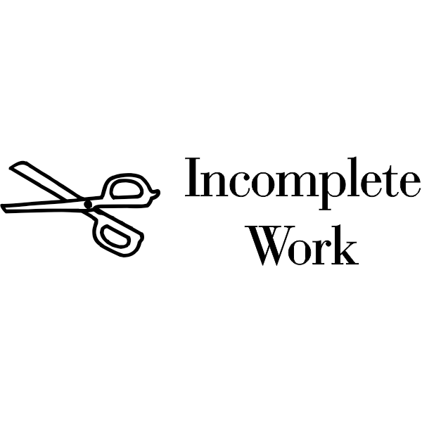 Grading - Incomplete Work Scissors Rubber Teacher Stamp