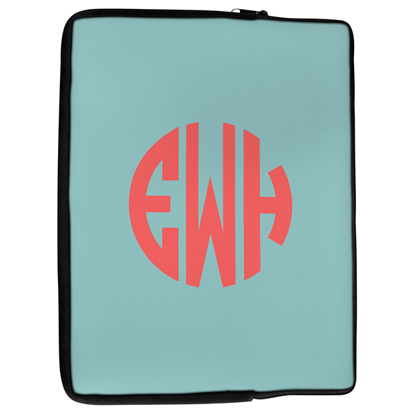 Simple Monogram Laptop Cover