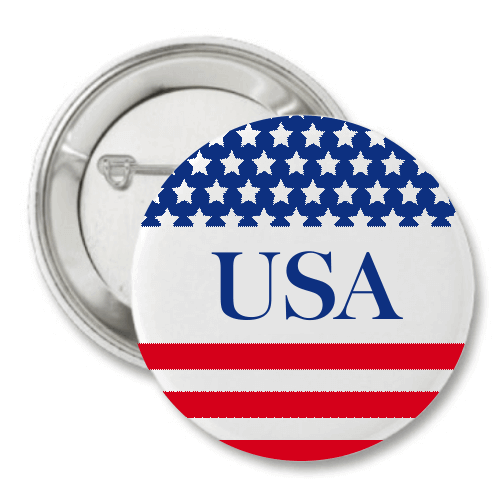 "USA Stars & Stripes 3"" Button"