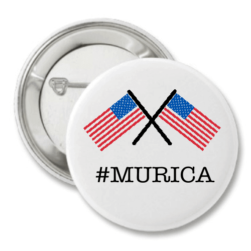 "# Murica Crossed Flags 3"" Button"