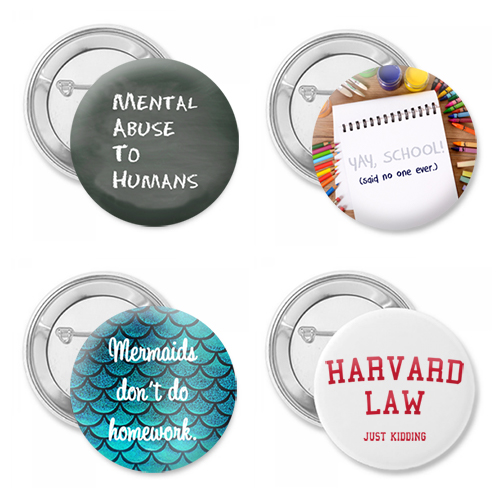 Back to School Four Pack Button Set