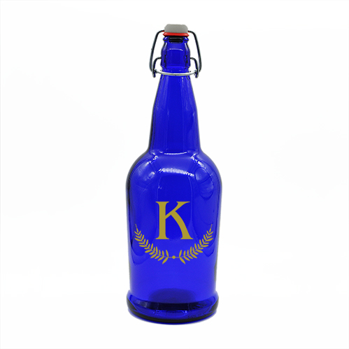 Blue Growler Monogram Barley