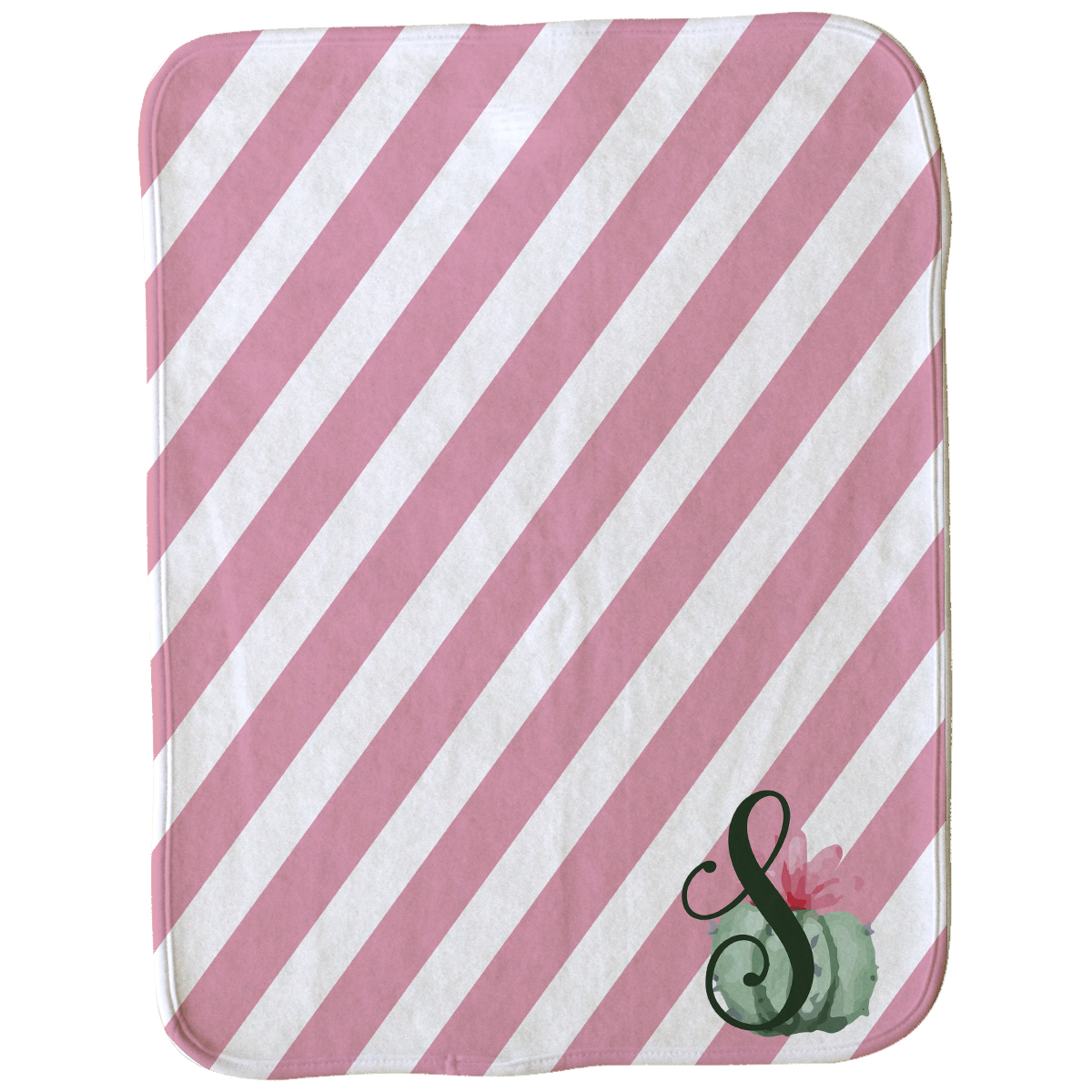 Cute Cactus Burp Cloth