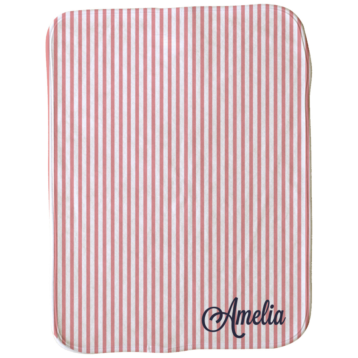 Classic Girl Stripe Burp Cloth