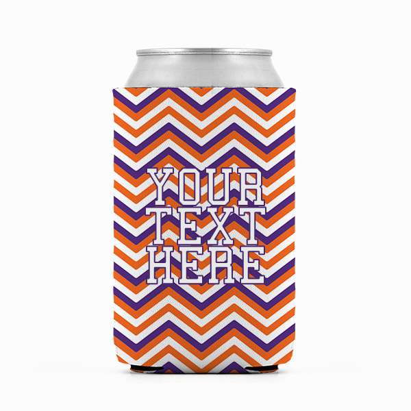 Clemson Inspired Orange and Purple Collegiate Can Koozie