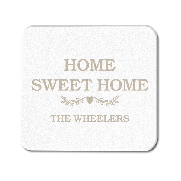 Custom Message Minimalist Glass Coaster