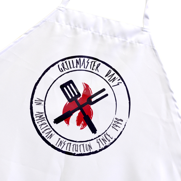 Custom Name Fire Grill Men's Cooking Apron