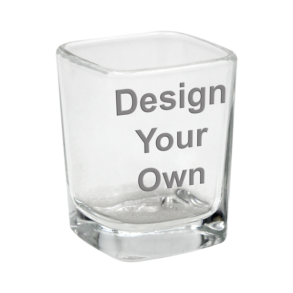 Customized Square Shot Glass - 1 Sided