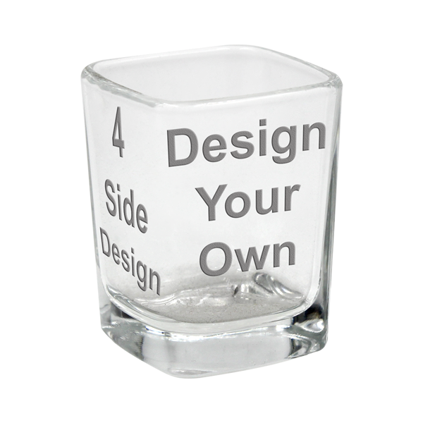 Customized Square Shot Glass - 4 Sided