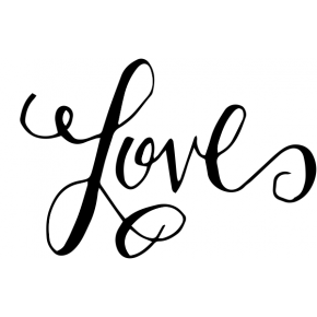 Hand lettered Love Stamp