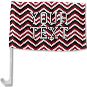 South Carolina Inspired Garnet and Black Collegiate Car Flag with pole