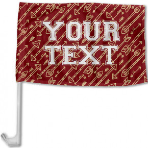 Florida State Inspired Garnet & Gold Collegiate Car Flag with pole