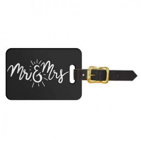 Mr & Mrs Newlyweds Luggage Tag - Front