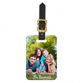 Custom Portrait Luggage Tag - Front