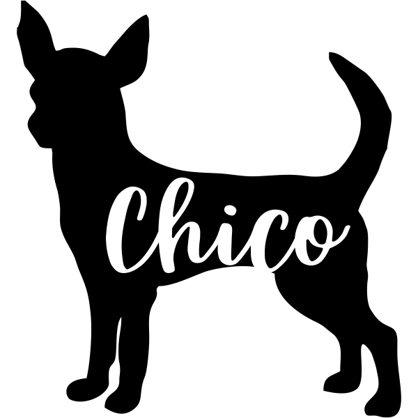 Sticker of Chihuahua Dog Inside for Bumper Travel Laptop Tablet Suitcase