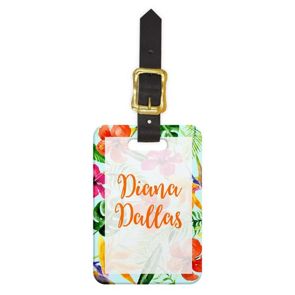 Hibiscus Luggage Tag - Front