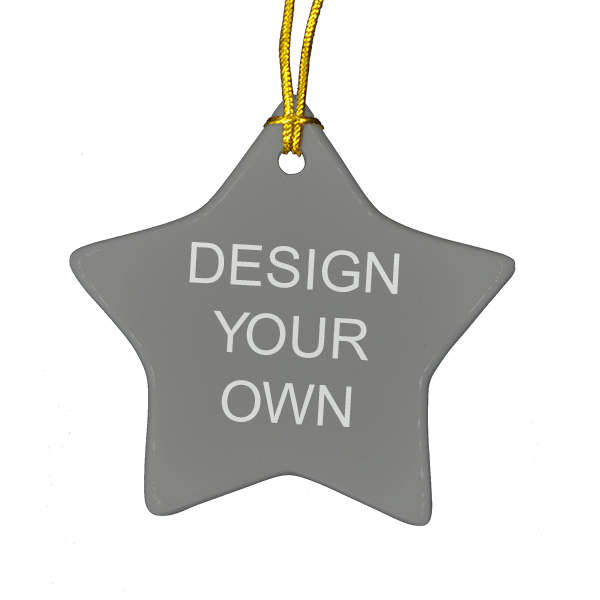Double Sided Star Ceramic Ornament
