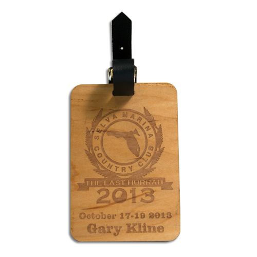 Personalized Wooden Luggage Tag