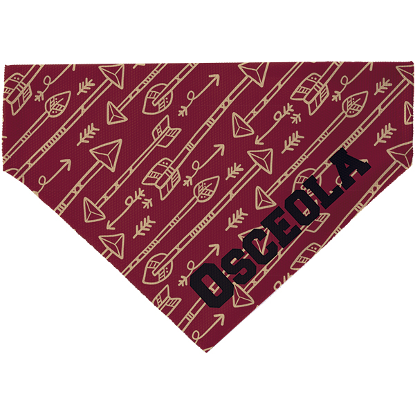 Florida State Inspired Arrows Pet Scarf