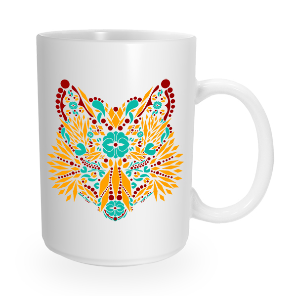 Fox Giraffe Double Sided Coffee Mug