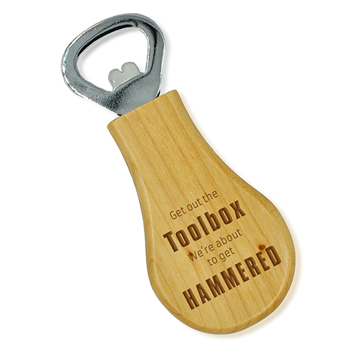 Get out the Toolbox Engraved Bottle Opener