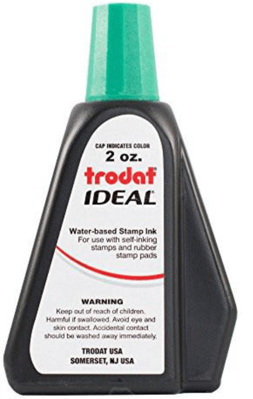 Green 2oz Refill Ink - Self Inking