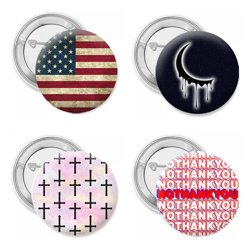 Grunge Bless America Four Pack Button Set
