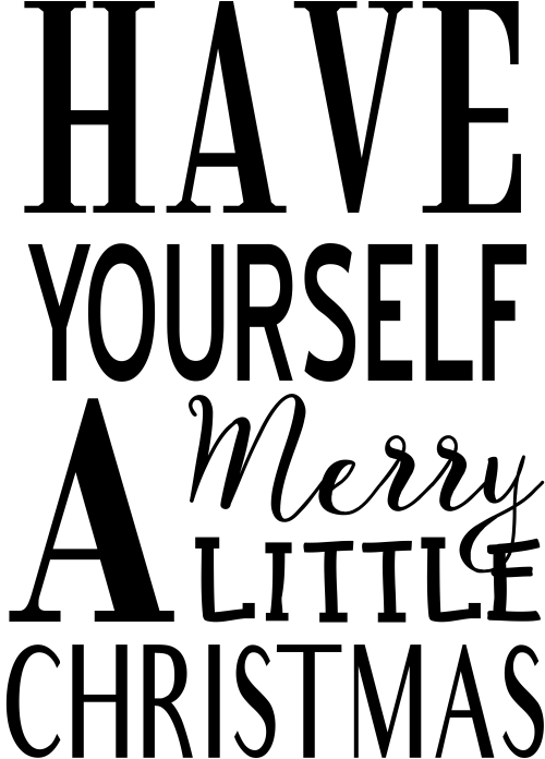 Have Yourself A Merry Little Christmas Craft Stamp