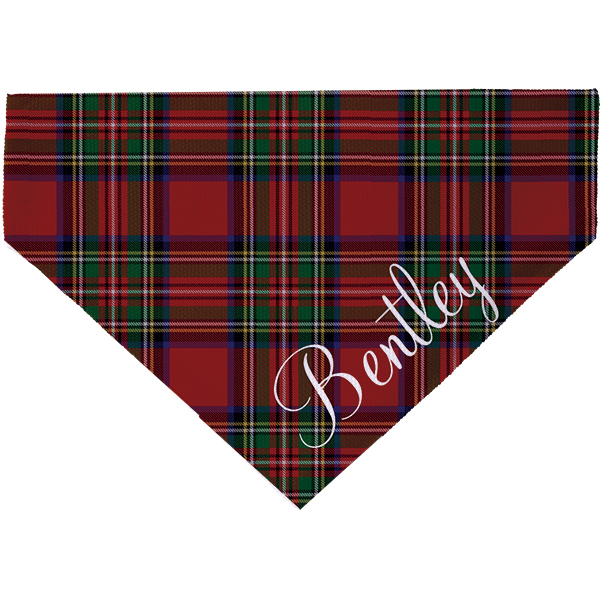 Holiday Plaid Pet Scarf