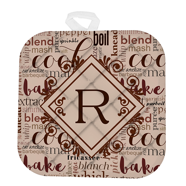 Custom Monogram Mocha Cooking Pot Holder
