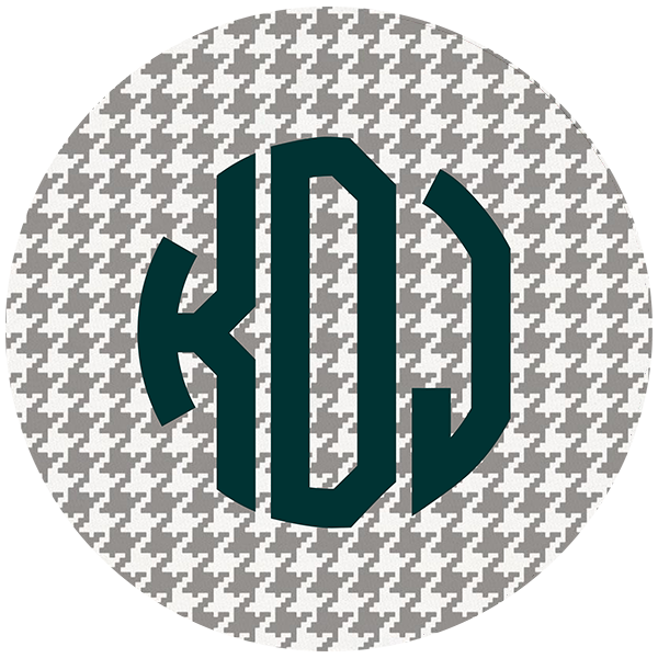 Houndstooth Round Mouse pad