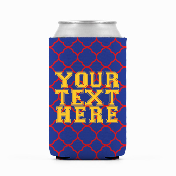 Kansas Inspired Red, Blue and Yellow Collegiate Can Koozie