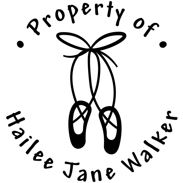 Property of Ballet Shoes Stamp