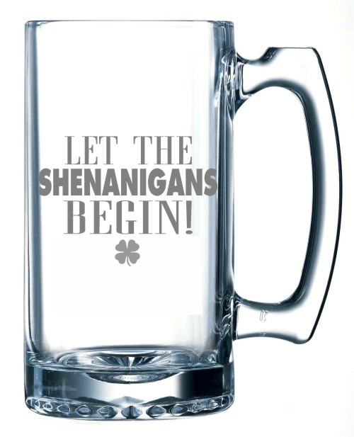Let the Shenanigans Begin Beer Mug