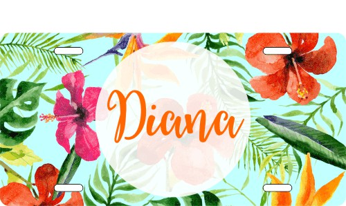 Custom Tropical Flower Name