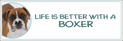 """Life is Better with a Boxer"" Decal"