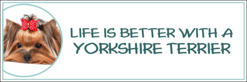 Life is Better with a Yorkshire Terrier Decal