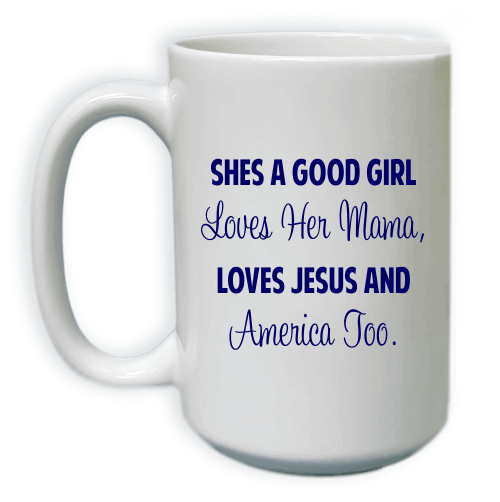 Loves Jesus and America Too Coffee Mug