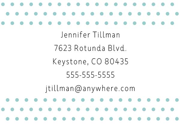 Polka Dot Last Name Luggage Tag - Back