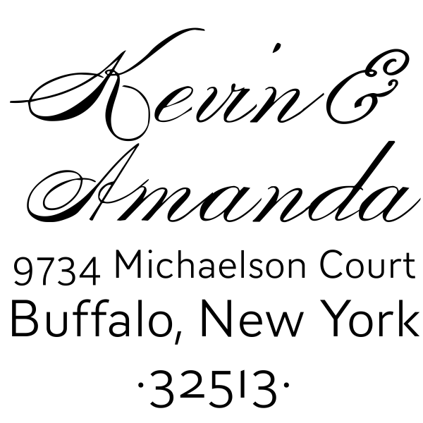 Michaelson Couple's Return Address Stamp