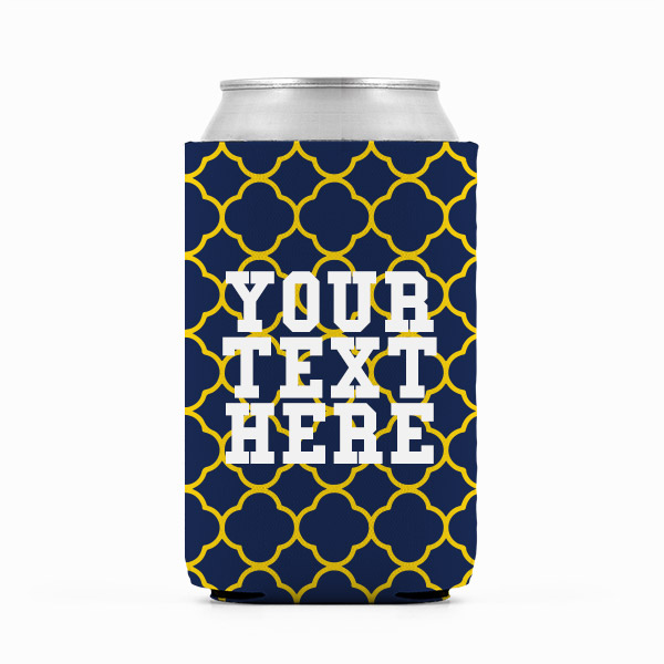 Michigan Inspired Blue and Yellow Collegiate Can Koozie