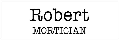 Mortician Halloween Costume Name Tag