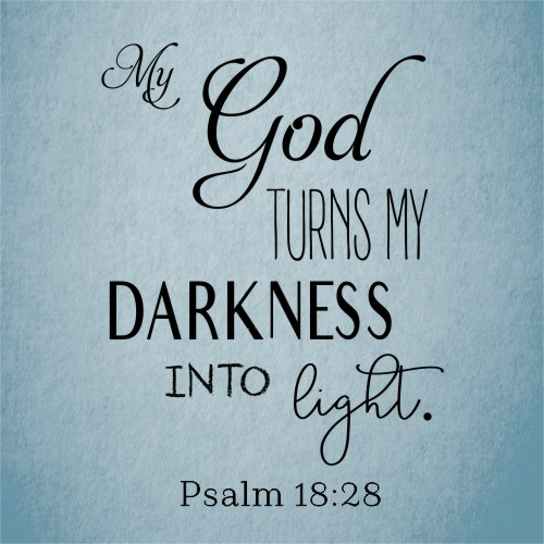 """My God Turns My Darkness into Light"" Sign"