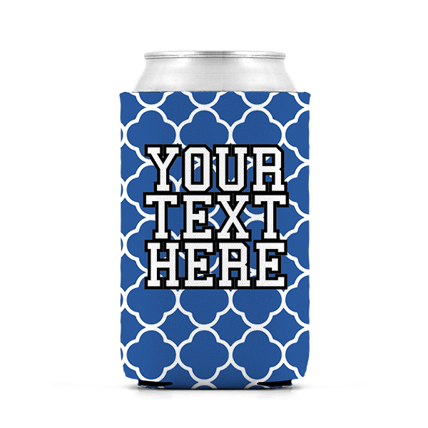North Carolina Blue and White Inspired Collegiate Can Koozie